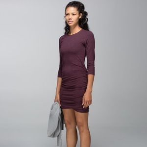 LULULEMON Anytime Dress Heathered Bordeaux Drama